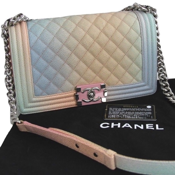 c9cd2f2baad20c CHANEL Handbags - CHANEL Rainbow Multi-Color Boy Bag Caviar Leather